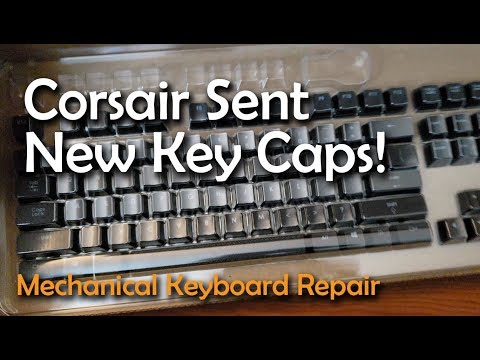 Corsair Sent New Replacement Key Caps! K70 RGB Keyboard Repair