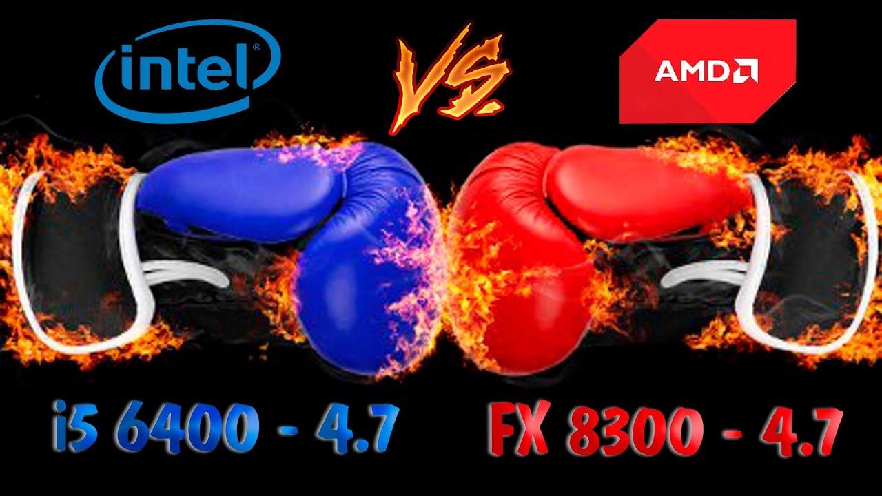 FX-8320e@4.7 против i5-6400@4.7 (GTX 1080) в играх