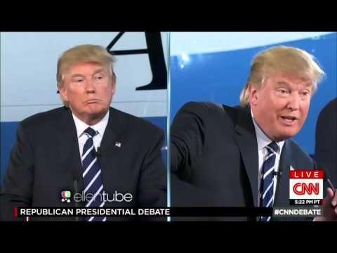 Donald Trump vs Donald Trump - Trump Debates Himself! Presidential GOP Debate