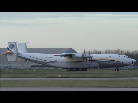 Gigantic Antonov Airlines An-22 at Manchester Airport