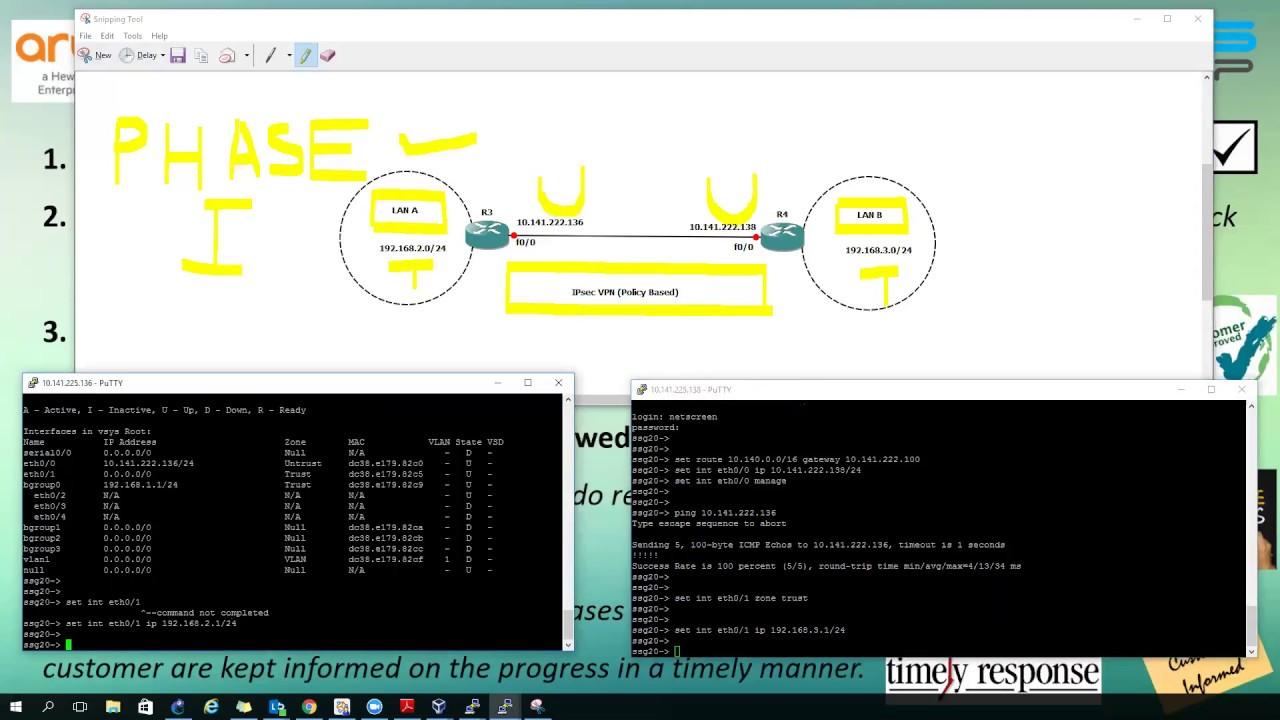 How to configure IPsec VPN (Policy based) between two Juniper Netscreen  Firewall