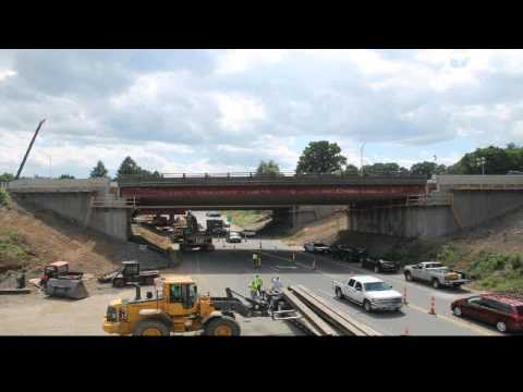 Time-lapse of Southington I-84 bridge replacement