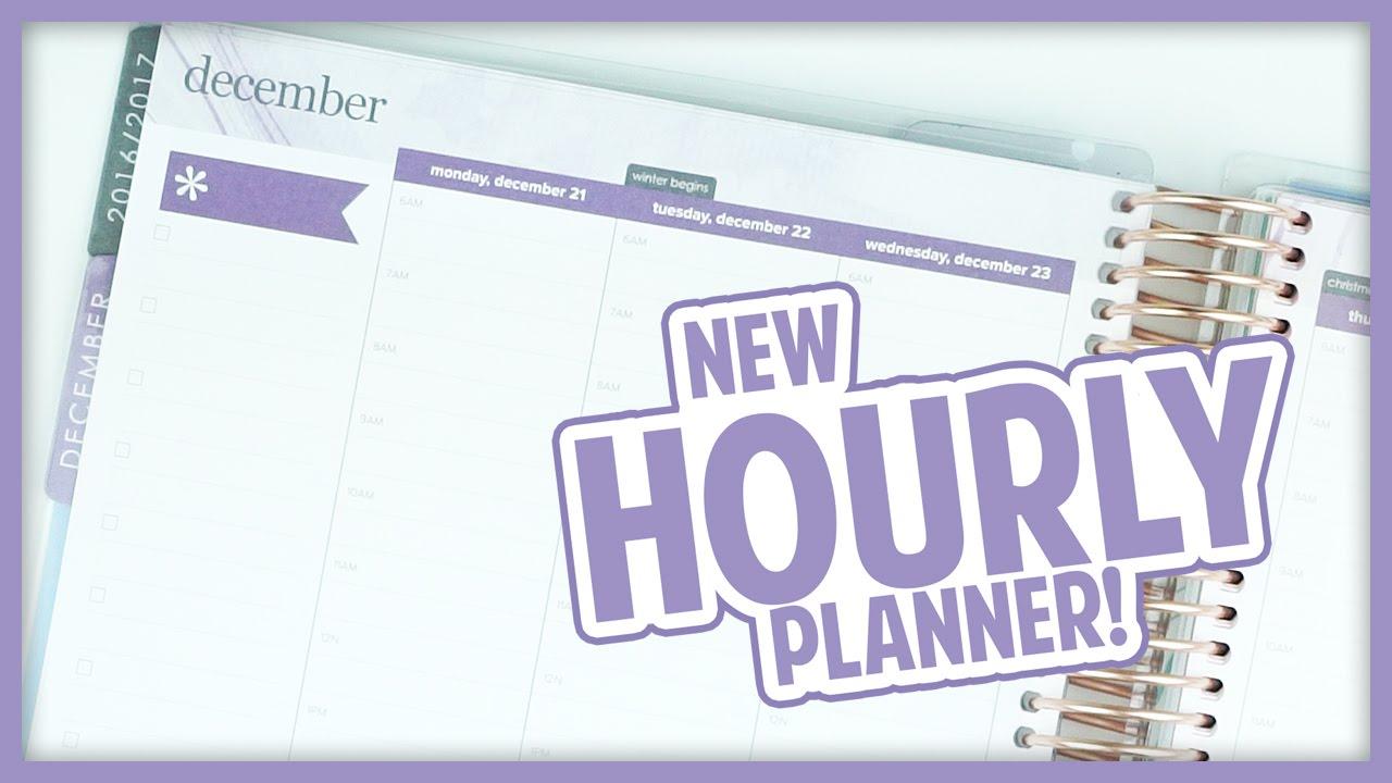 new erin condren hourly planner youtube
