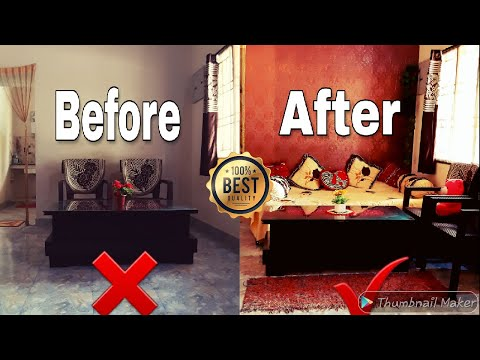 how to paste wallpaper on wall/pvc/review/small budget makeover/diy|interior/decoration/Mind Mentor