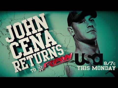 John Cena returns to Raw this Monday