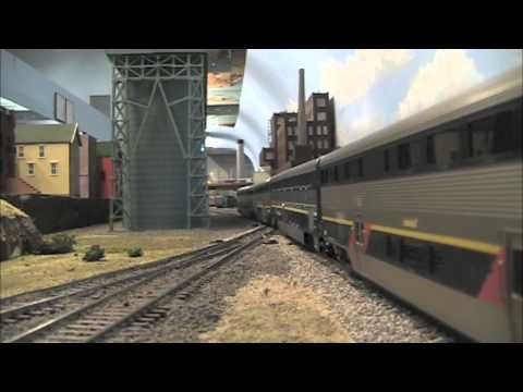 Ultimate HO Amtrak California video at Carquinez Model Railroad Society- CMRS. Part 1