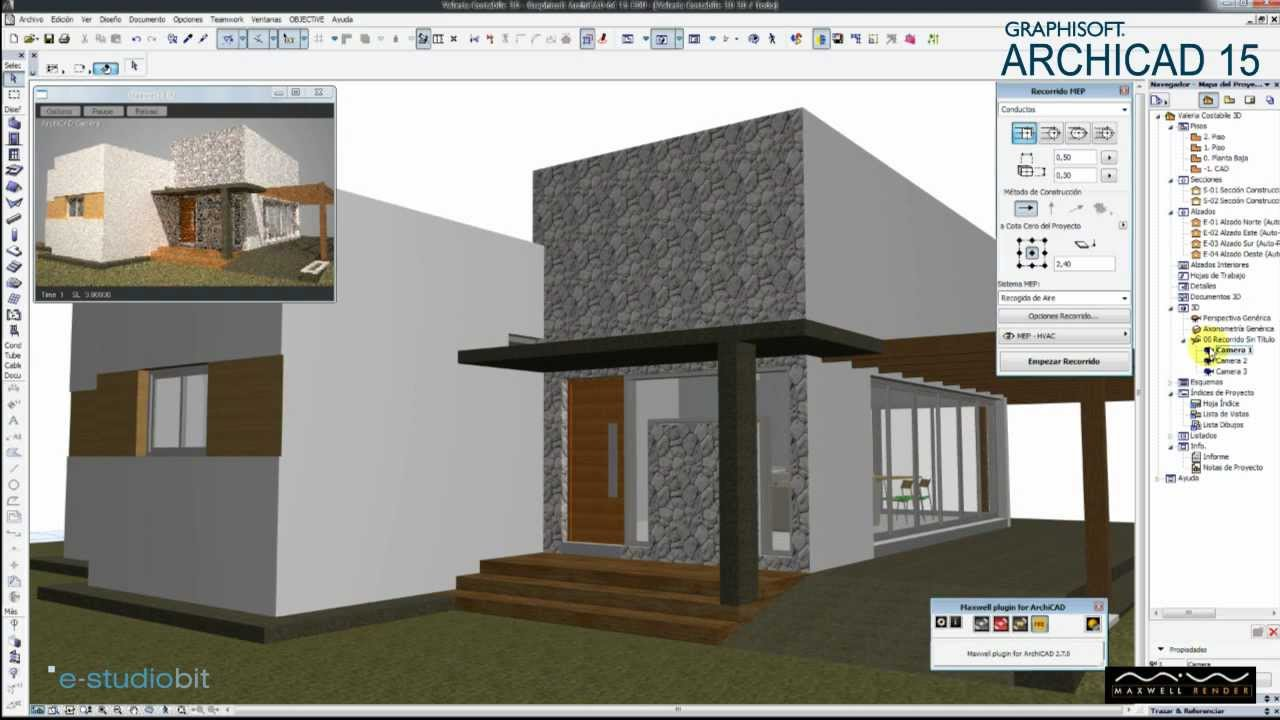 maxwell render real time in archicad youtube. Black Bedroom Furniture Sets. Home Design Ideas