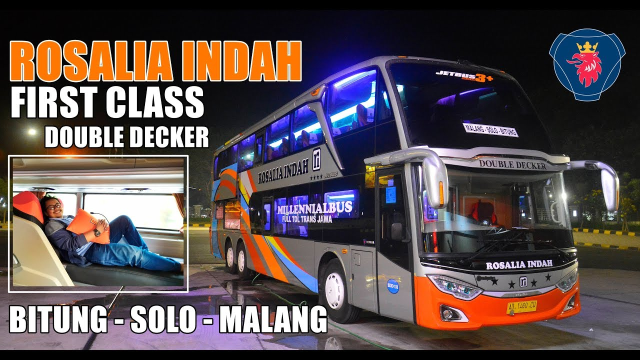 Kursi Bus Rosalia Indah Double Decker