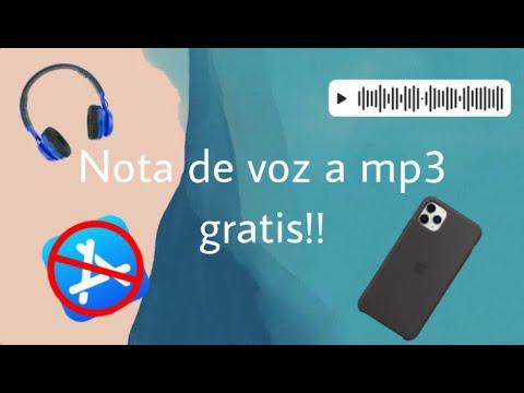 Como convertir notas de voz en iPhone, de m4a a mp3, gratis.