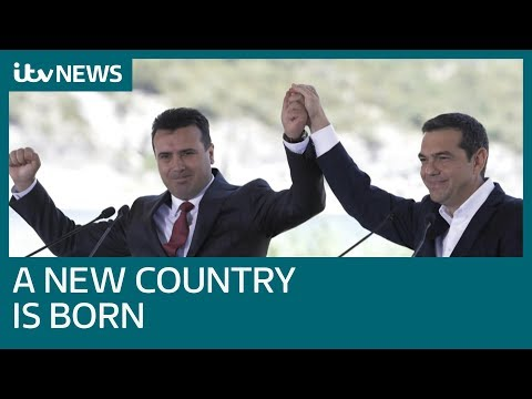 North Macedonia: A new country is born after naming row with Greece | ITV News