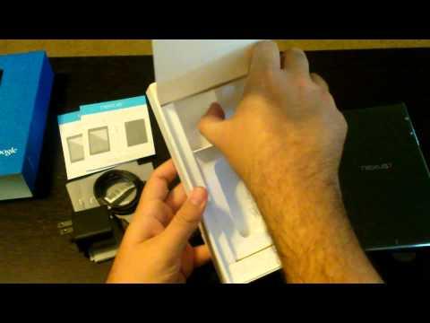 Nexus 7 (2013) Unboxing Video 32GB WiFi