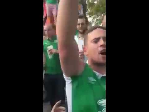 Irish Fans Singing james mclean song
