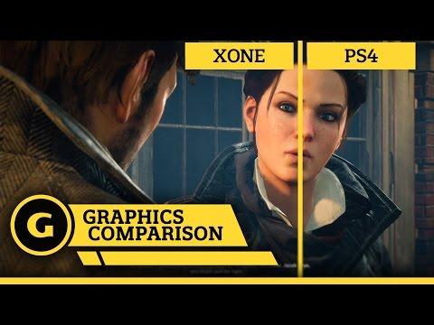 Сравнение графики в игре Assassin's Creed: Синдикат на Xbox One и Playstation 4