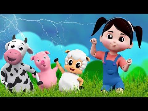 Я слышу Гром | детская детская рифма | песня для детей | рифма в россии | I Hear Thunder