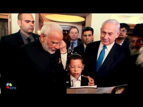 Modi visits victim of 2008 terror attack on Mumbai's Chabad House