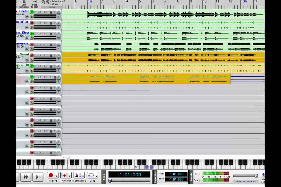 RealBand: Getting Started 5 -- recording MIDI