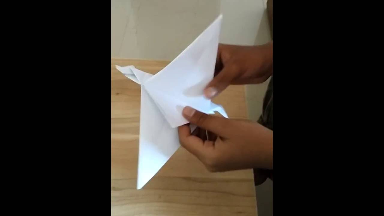 how to make a origami flapping dragon