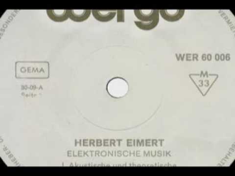 Herbert Eimert – Einführung in die Elektronische Musik