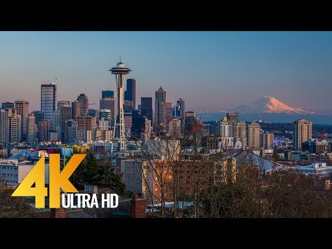 Seattle - The Emerald City - 4K Film with City Views & Relaxaing Music - Part 1