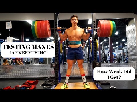 Testing My Maxes   How Weak Did I Get After Losing 20lbs?