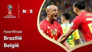 WK voetbal: Samenvatting Brazilië - België (1-2)