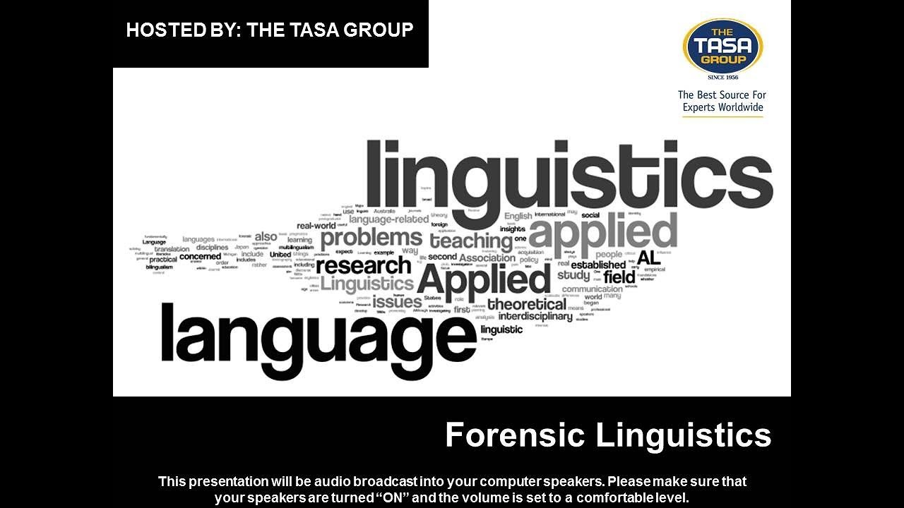 Forensic Linguistics Youtube