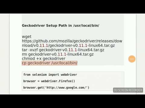 Python - Getting Started With Selenium WebDriver on Ubuntu