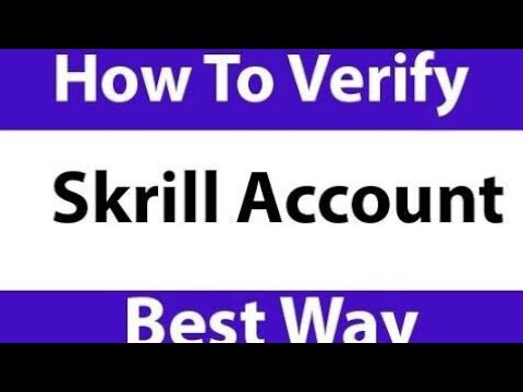 Skrill account in binary options must be verified