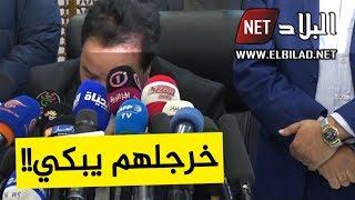 مترشح يفاجئ الصحفيين بالبكاء بعد إيداعه ملف ترشحه للرئاسيات لدى المجلس الدستوري؟!