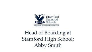 Head of Boarding at Stamford High School; Abby Smith
