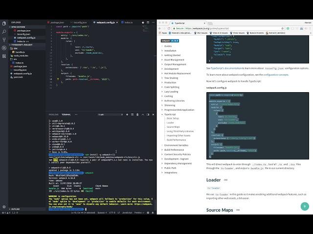 วิธีการ Setup TypeScript Project ของเราด้วย Webpack (แบบ minimal สุดๆ)