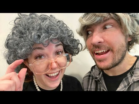 102 YEARS LATER... Granny Mom and Grandpa Dad turn old! Family Snowball Fight & Heart Sticker Pox