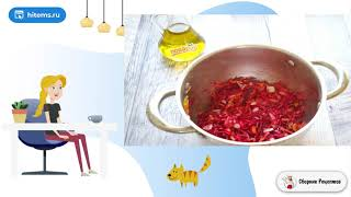 Легкий свекольный суп без картошки Рецепт как приготовить