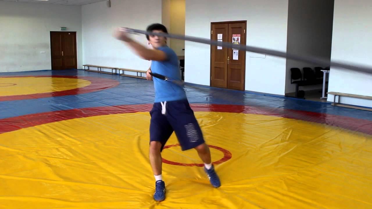 Тренировка с резиной Андрея Шидловского — работа с резиной для .