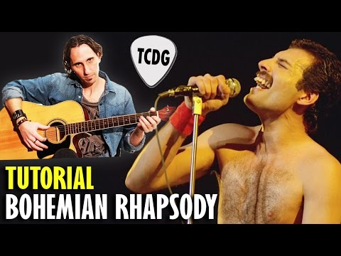 How To Play Bohemian Rhapsody On Acoustic Guitar (Queen) | Easy Guitar Lesson TCDG