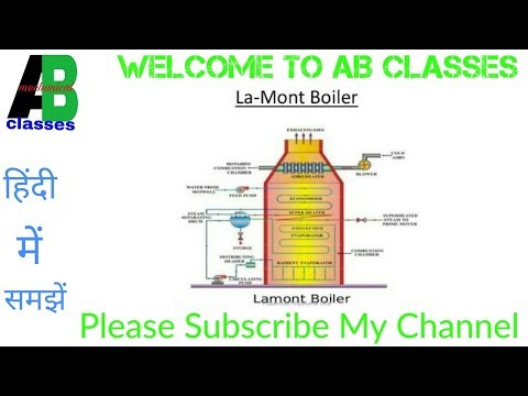 (IN HINDI) La-mont Boiler Construction and Working in Hindi-AB CLASSES,Thermodynamics