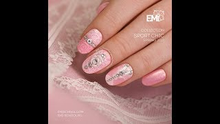 Flowers and lace on nails. Tutorial on nail design.
