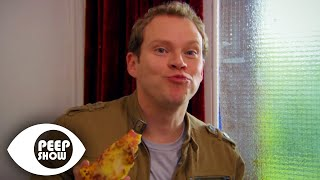 Getting Pizza Through The Door - Peep Show