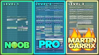 3 Levels of Progressive House - NOOB vs PRO vs MARTIN GARRIX