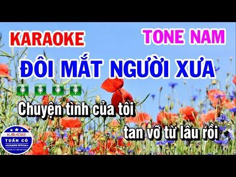 Karaoke Đôi Mắt Người Xưa   Nhạc Sống Beat Nam Dễ Hát   Karaoke Tuấn Cò