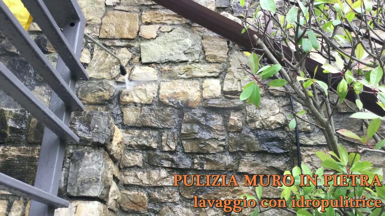 Pulizia muro in pietra con idropulitrice la piovra srl youtube