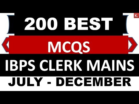 200 Best current affairs 2018 (English+Hindi) SET-1 IBPS Clerk Mains 2018- 2019