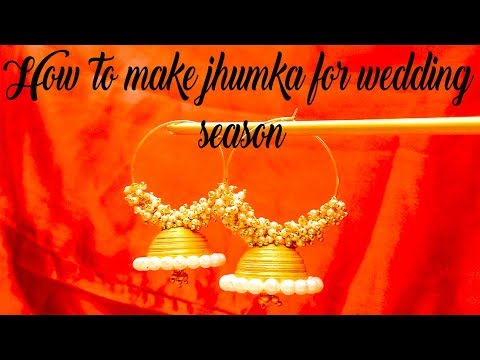 how to make quilling earrings at home | wedding season special | handmade jhumkas for wedding season