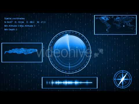 Submarine Sonar With Target On Map Templates || Videohive After Effects Templates