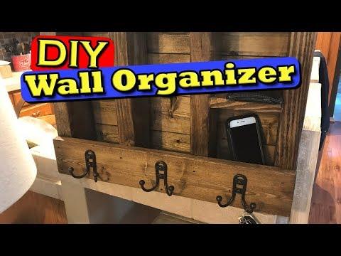 Wall Shelf Key Ring Coat Rack Mail Organizer (DIY)