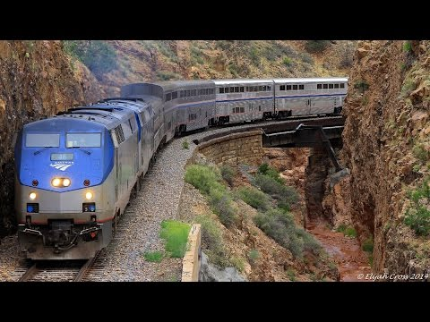 Amtrak's Southwest Chiefs with Viewliner Baggage Cars - September 2015