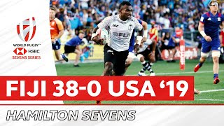 Full Final Replay | Fiji 38-0 USA | Hamilton 2019