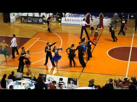 Athens DanceSport Open 2015: Adults: Three Dance Latin Open: SemiFinal