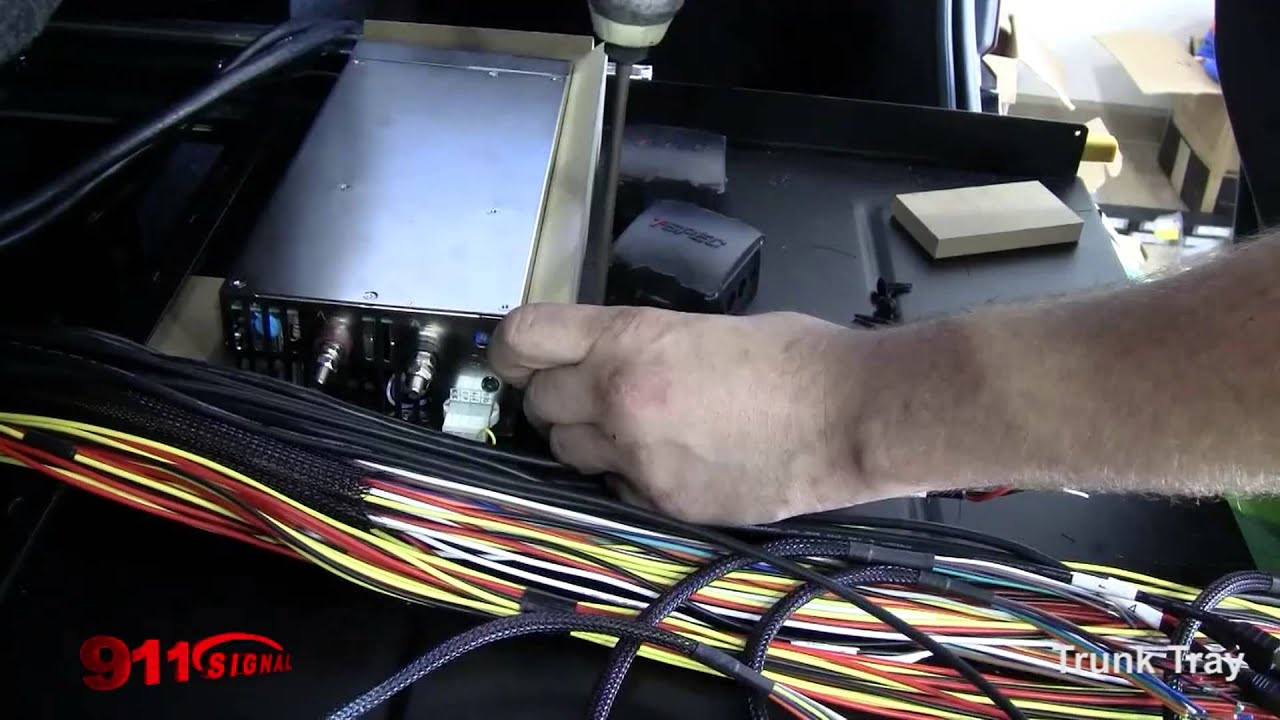maxresdefault final wiring to a trunk control tray for led police lights on a 2016 dodge [ 1920 x 1080 Pixel ]