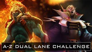 Dota 2 A-Z Dual Lane Challenge - Huskar and Invoker